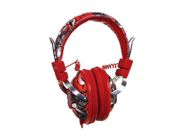 Ecko Ecko Exhibit Red EKU-EXH-RD On Ear Headphone/Mic - Red