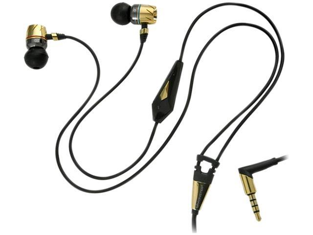 Monster Gold MH TBB-P IE GLD CT 3.5mm Connector In-Ear Turbine Pro Gold Audiophile Headphone with ControlTalk
