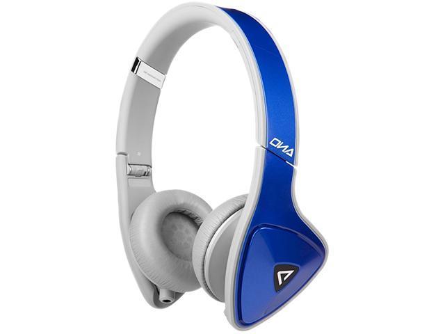 Monster Cobalt Blue Over Light Grey MH DNA ON BL LTGY CA WW On-Ear Headphones, Apple ControlTalk - Cobalt Blue Over Light ...