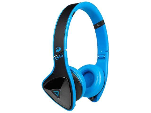 Monster DNA On-Ear Headphones-Blk/Laser Blue