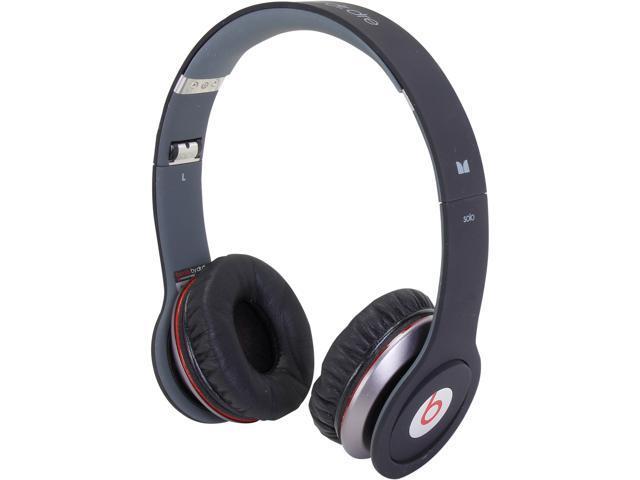 Beats by Dr. Dre Black BEATS SOLO HD FLAT Supra-aural Headphone/Headset