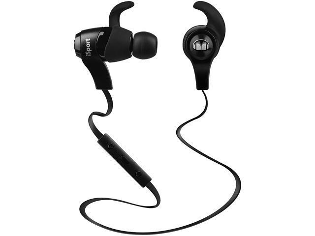 Monster iSport Bluetooth Wireless In-Ear Sport Headphones, Black, 128660-00