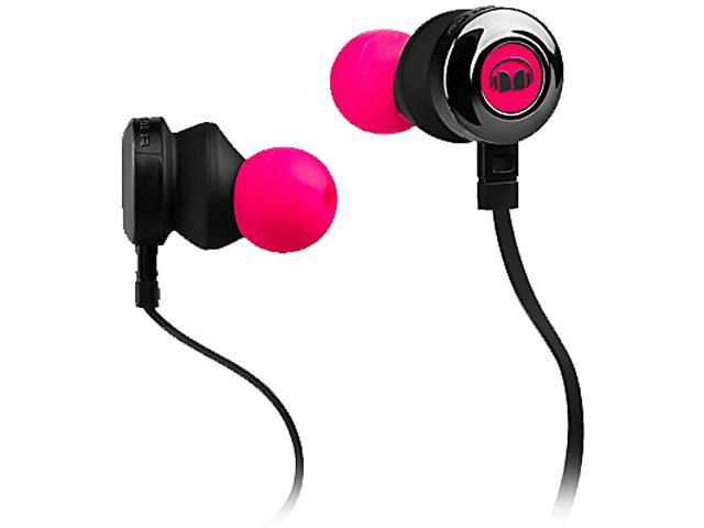 Monster ClarityHD High-Performance Earbuds, Neon Pink, 128668-00