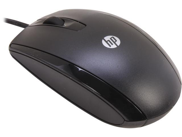 HP KY619AA#ABA Black 3 Buttons 1 x Wheel USB Wired Optical 1000 dpi Mouse