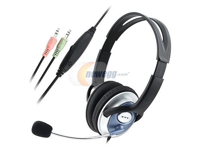 INSTEN 1042697 3.5mm Connector Headset for Skype MSN