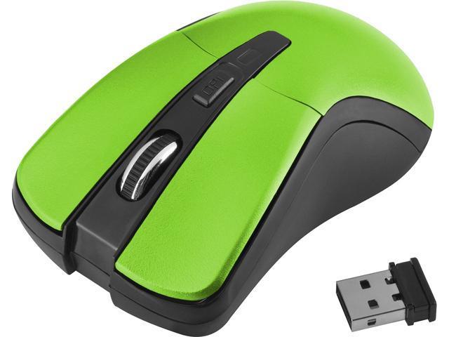 Insten 2018518 Green 6 Buttons 1 x Wheel USB RF Wireless Optical Mouse