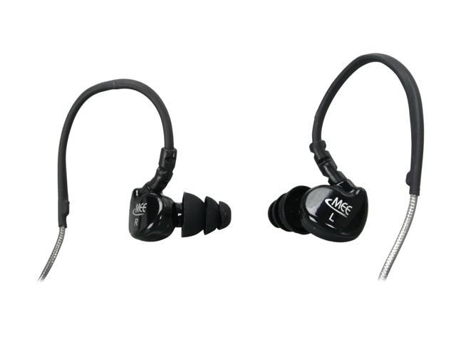 MEElectronics M6-BK 3.5mm Gold-Plated Connector Canal Stylish Sound-Isolating Earphones (Black)