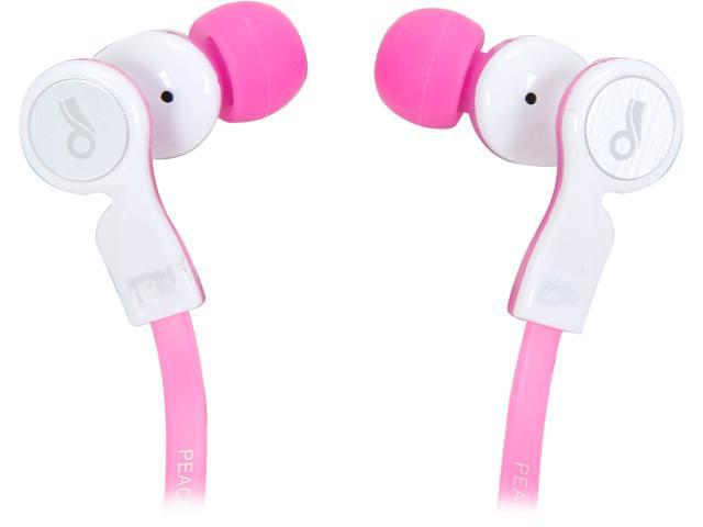Mee audio EDM Universe In-Ear Headphones with Headset Functionality and Universal Volume Control (Love/Pink)
