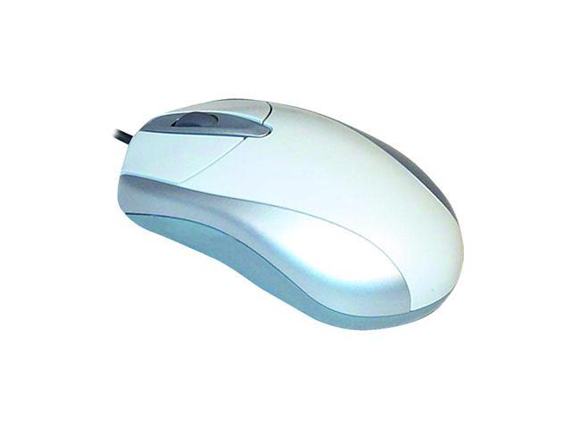 GE 97986 White 3 Buttons 1 x Wheel PS/2 Wired Optical Mouse