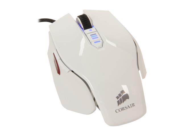 Corsair Vengeance M65 CH-9000022-NA White 8 Buttons USB Wired Laser Gaming Mouse
