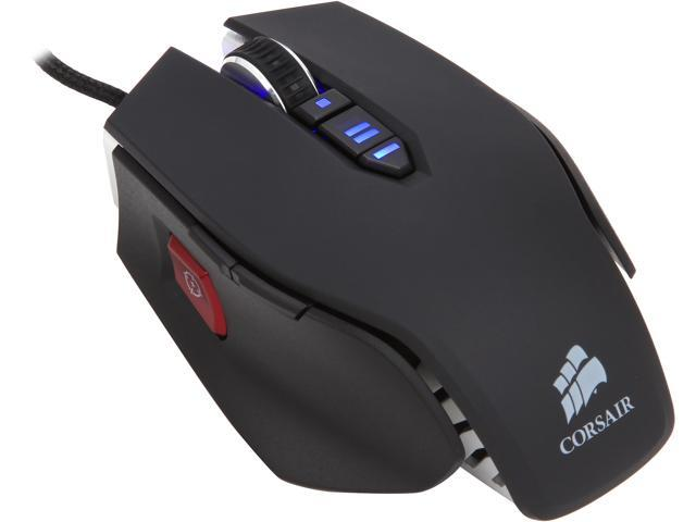Corsair Vengeance M60 CH-9000001-NA Black 8 Buttons 1 x Wheel USB Wired Laser Performance, FPS Gaming Mouse