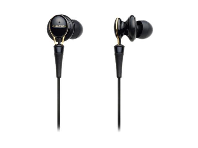 Phiaton PS 20 Half In-Ear Premium Earphone, Glossy Black