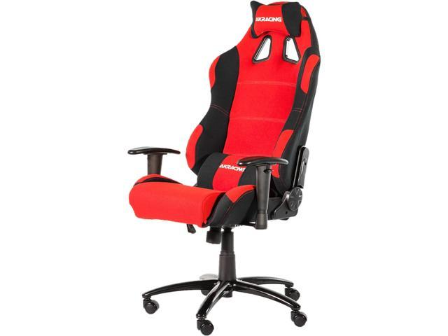 Akracing AK-7018 Ergonomic Series Executive Racing Style Computer Gaming Office Chair with Lumbar Support and Headrest Pillow Included - Black / Red