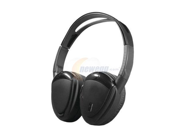 POWER ACOUSTIK HP-900S 3.5mm Connector Circumaural Swivel Ear Pad, 2-Channel RF 900 MHz Wireless Headphones