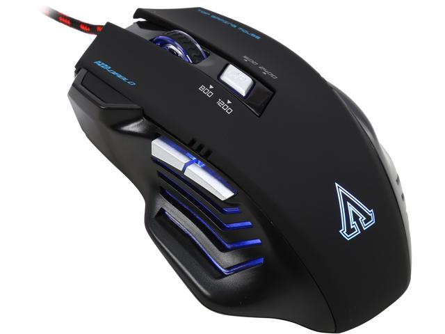 AZZA Diablo MSAZ-004 Black 6 Buttons 1 x Wheel USB Wired Optical LED Gaming Mouse