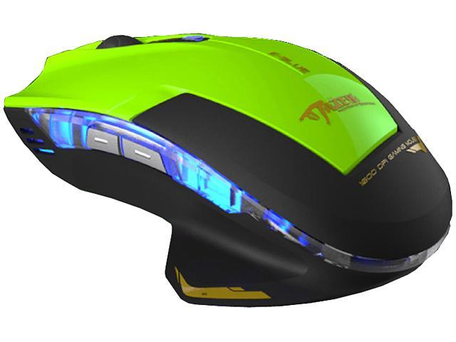 E-Blue Mazer Type-R EMS124GR Green 1 x Wheel USB Wired Optical Gaming Mouse