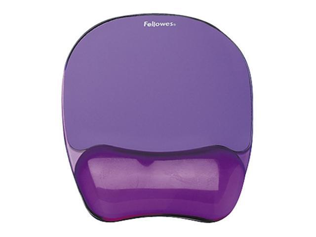 Fellowes 91441 Gel Crystals Mousepad/Wrist Rest - Purple