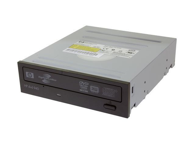 HP 18X DVD+R 8X DVD+RW 8X DVD+R DL 18X DVD-R 6X DVD-RW 12X DVD-RAM 16X DVD-ROM 48X CD-R 32X CD-RW 48X CD-ROM 2M Cache IDE DVD Burner With LightScribe