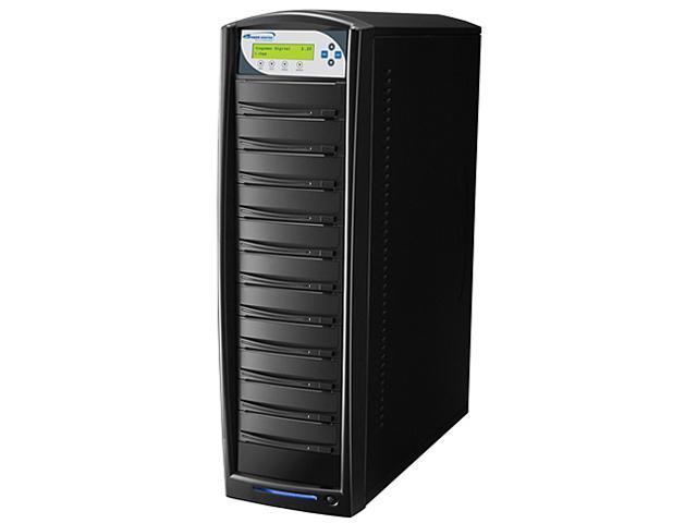 VINPOWER Black 1 to 10 SharkCopier DVD CD Disc Duplicator Tower with 320GB Hard Drive Model Shark-S10T-SNY-BK