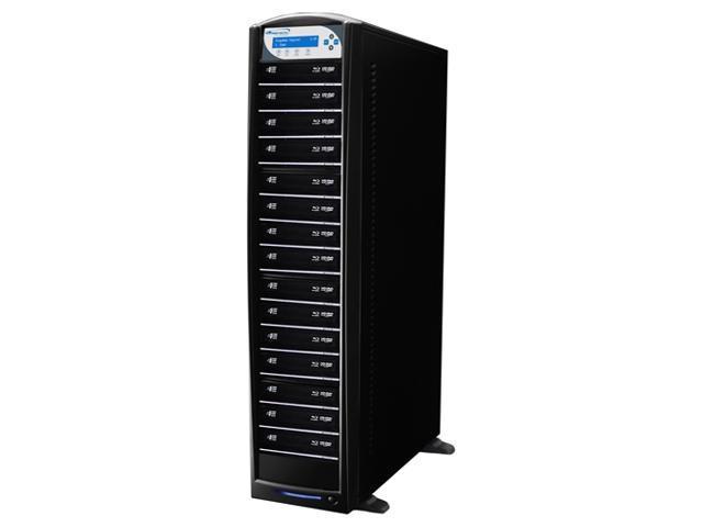 VINPOWER Black 1 to 15 256M Buffer Memory SharkBlu BDXL / Blu-Ray / DVD / CD Disc Duplicator + USB 3.0 + 500GB HDD Model SharkBlu-S15T-XL-BK