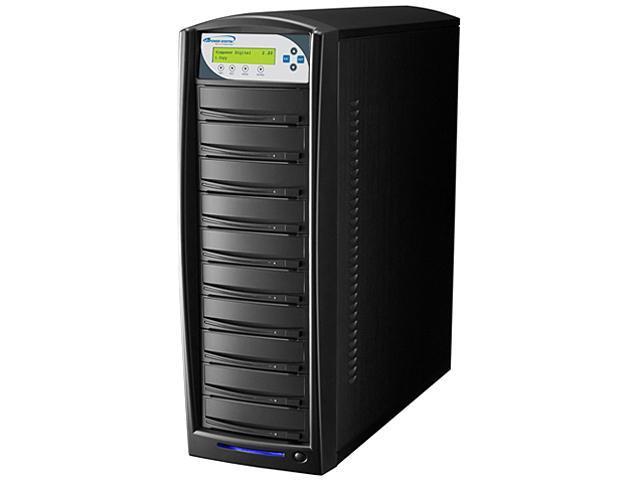 VINPOWER Black 1 to 10 256M Buffer Memory SharkCopier Daisy Chain DVD CD Disc Duplicator + 320GB HDD Model Shark-S10T-DC-BK