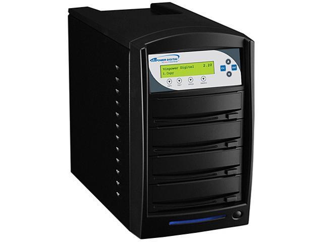 VINPOWER Black 1 to 3 SharkCopier DVD CD Disc Duplicator Tower with 320GB Hard Drive Model Shark-S3T-SNY-BK