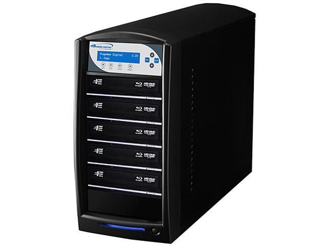 VINPOWER Black 1 to 5 128M Buffer Memory SharkBlu Blu-ray DVD CD Disc Duplicator + 500GB HDD + USB 3.0 CopyConnect Model ...