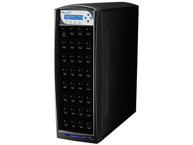VINPOWER Black 1 to 39 USBShark USB Flash Copy Tower Duplicator Model USBSHARK-39T-BK