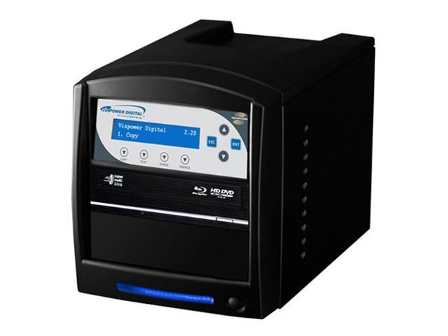VINPOWER Black 1 to 1 64M Buffer Memory SharkNet Network Capable Blu-ray DVD CD Duplicator + USB 3.0 + 500GB HDD Model SharkNet-1T-BD-BK