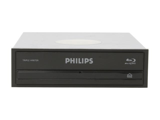PHILIPS Black 2X BD-R 2X BD-RE 12X DVD+R 2X BD-ROM 8MB Cache SATA Internal Blu-ray Burner 2X Blu-ray DVD Burner with Free 25GB Blu-ray Disc Model SPD7000BD