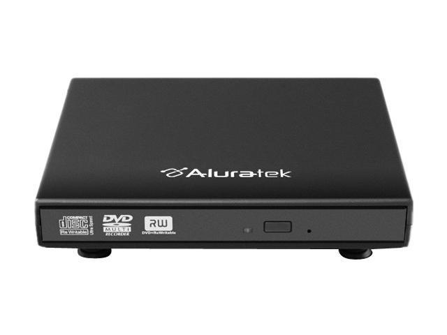 Aluratek USB 2.0 Black External Slim Multi-Format Writer with Software Model AEOD100F