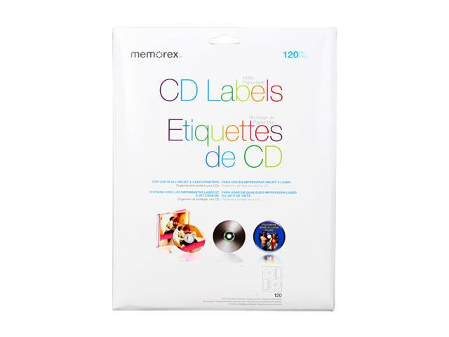 Memorex 00424 White CD Labels - 120 Packs