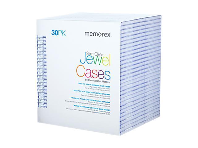 Memorex 01931 30-pack Clear Slim CD Jewel Case