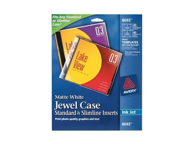 AVERY 8693 CD Jewel Case Insert