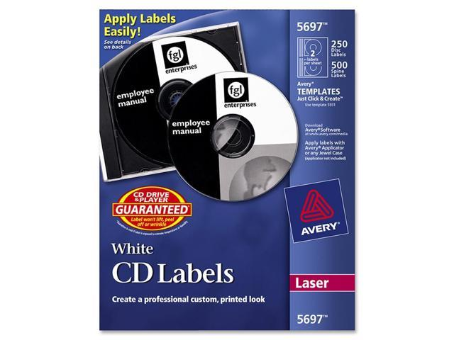 AVERY 5697 CD/DVD and Jewel Case Spine Laser Label