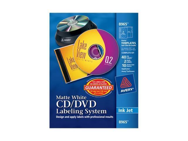 AVERY 8965 Matte White Film DVD Labeling System