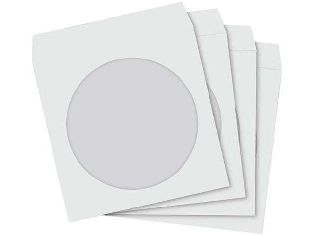 TekNmotion TM-WS100 Single CD/DVD 100 white paper sleeves