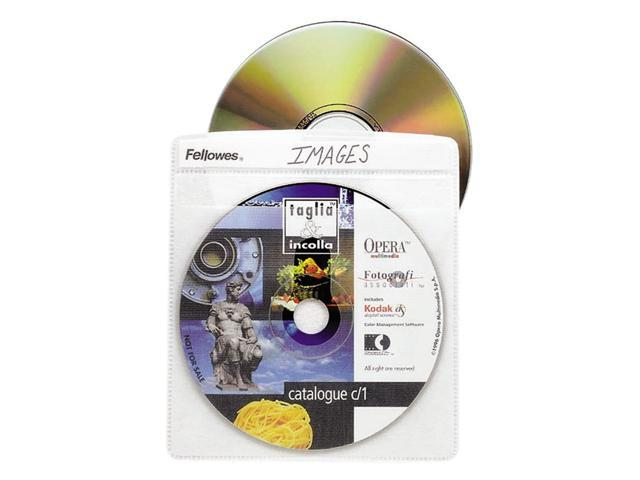 Fellowes 90661 CD/DVD Sleeves - 25 Packs