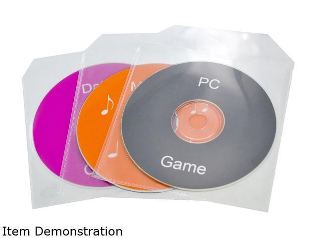 TekNmotion TM-CLS1000 1000 Single CD/DVD Clear Plastic Sleeves