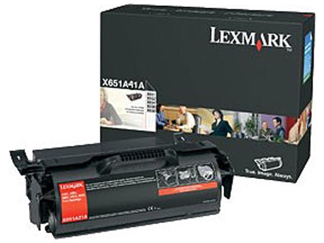 Lexmark X651A41G Return Program Black Toner Cartridge