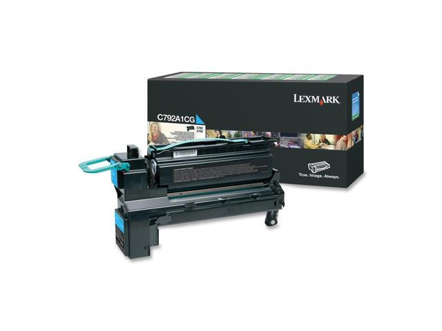 LEXMARK C792A1CG Return Program Toner Cartridge, 6000 Pages Yield; Cyan