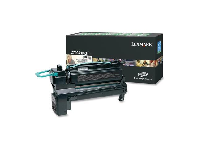 LEXMARK C792A1KG Return Program Toner Cartridge, 6000 Pages Yield; Black
