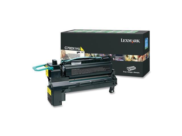 Lexmark C792X1YG Extra High Yield Return Program Toner Cartridge - OEM