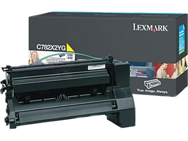Lexmark Extra High Yield Yellow Toner Cartridge for C782n, C782dn, C782dtn and X782e Printers