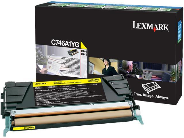 Lexmark C746A4YG Return Program Toner Cartridge - Yellow