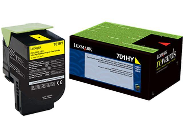 LEXMARK 701HY (70C1HY0) High Yield Return Program Toner Cartridge Yellow
