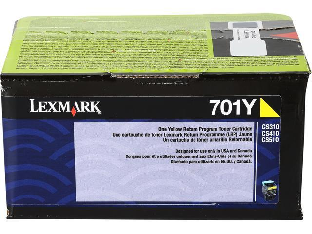 Lexmark 701Y (Model # 70C10Y0) Toner Cartridge; Yellow (Return Program)