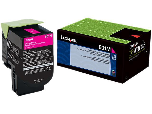 LEXMARK 801M (80C10M0)&#59; Return Program 801M  Return Program Toner Cartridge Magenta