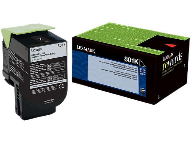 LEXMARK 801K (80C10K0)&#59; Return Program Return Program Toner Cartridge Black