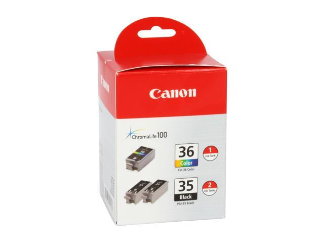 Canon PGI-35/CLI-36 Ink Tank Value Pack&#59; 2 Black, 1 Color